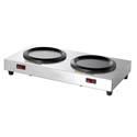 2-Burner Coffee Warmer with Separate Controls