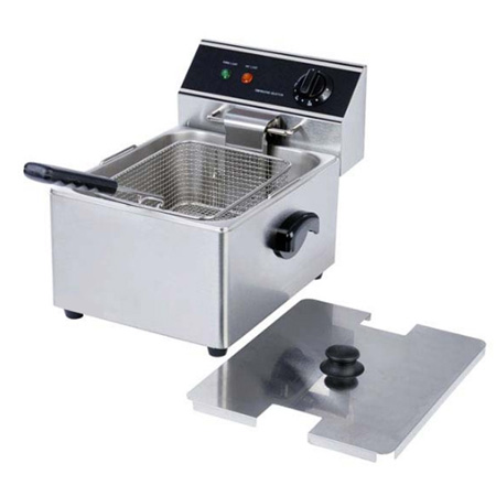 "Adcraft 15 lb. Light Duty 120V Electric Countertop Fryer 11-3/4""W"