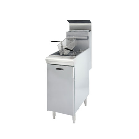 "Patriot 35-40 lb. Gas Fryer with Stainless Steel Pot 15-1/2""W"