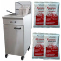 Patriot 35 - 40 lb. Natural Gas Fryer with Stainless Steel Pot and Four 8 oz Alconox 15-1/2