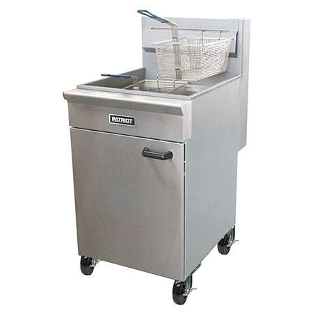 "Patriot 65-70 lb. Gas Fryer with Stainless Steel Pot 21""W"
