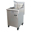 Patriot 65-70 lb. Natural Gas Fryer with Stainless Steel Pot 21\x22W