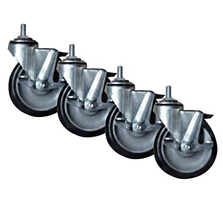 Set of 4 Locking Casters for Patriot Ranges and Convection Ovens