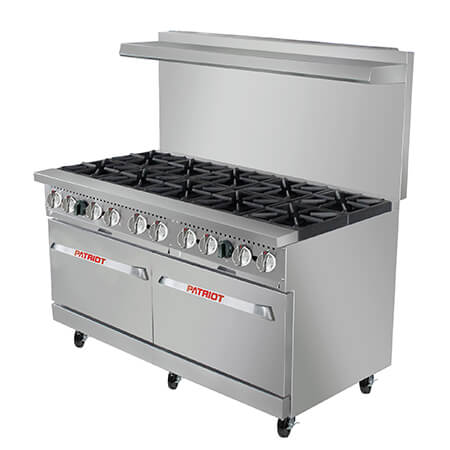 "Patriot 10-Burner Gas Range 60""W"