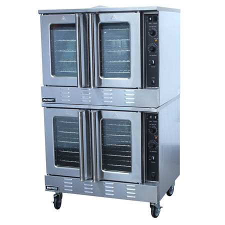 "Patriot Full Size Double Deck Liquid Propane Gas Convection Oven with Casters 39""W"