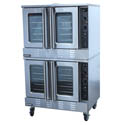 "Patriot Full Size Double Deck Natural Gas Convection Oven with Casters 39""W"