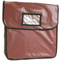 Burgundy Vinyl Insulated Pizza Delivery Bag 20\x22L x 20\x22W x 5-3/8\x22H