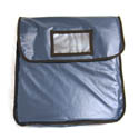 Blue Vinyl Insulated Pizza Delivery Bag 18\x22L x 18\x22W x 5-3/8\x22H