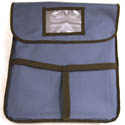 Blue Nylon Insulated Pizza Delivery Bag 18\x22L x 18\x22W x 5-3/8\x22H