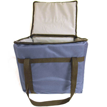 "Blue Nylon Insulated Food Delivery Bag 13""L x 11""W x 12""H"