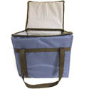 Blue Nylon Insulated Food Delivery Bag 13\x22L x 11\x22W x 12\x22H