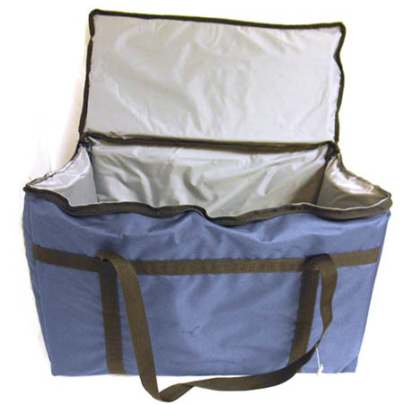 "Blue Nylon Insulated Food Delivery Bag 22""L x 12""W x 12""H"