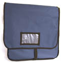"Blue Nylon Insulated Pizza Delivery Bag 20""L x 20""W x 12""H"