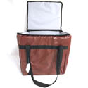 Burgundy Vinyl Insulated Food Delivery Bag 13\x22L x 11\x22W x 12\x22H