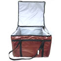 "Burgundy Vinyl Insulated Food Delivery Bag 20""L x 20""W x 12""H"