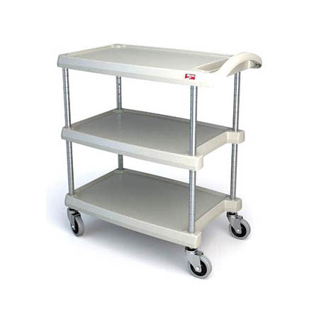 Metro 3-Shelf 400 lb. Capacity Gray Polymer Bus Cart