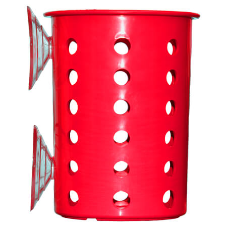 Steril-Sil Red Plastic Flatware Cylinder