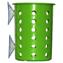 Steril-Sil Green Plastic Flatware Cylinder