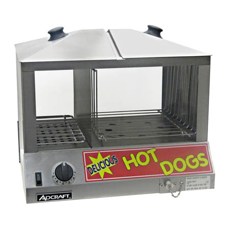 Adcraft 100 Hot Dog and 36 Bun Steamer