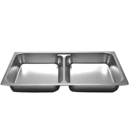 "Full Size Anti-Jam Standard Weight Divided Stainless Steel Food Pan 2-1/2"" Deep"