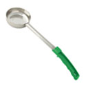 4 oz. Solid Stainless Steel Spoodle with Green Handle