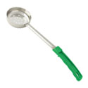 4 oz. Perforated Stainless Steel Spoodle with Green Handle