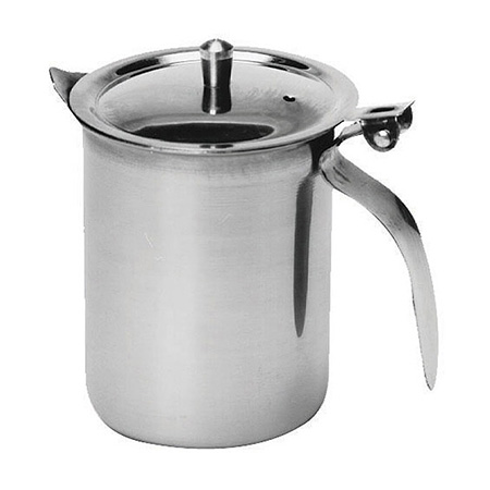 10 oz. Stainless Steel Server with Curved Lid