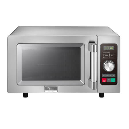"Midea 0.9 cu. ft. 1000 Watt Commercial Microwave Oven with Touch Pad and Dial Timer 20-1/8""W"