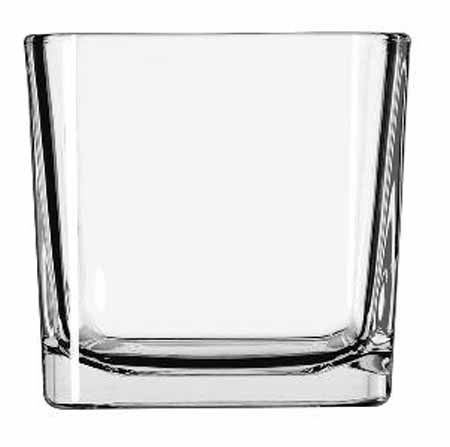 Libbey 14 oz Glass Cube Votive Holder