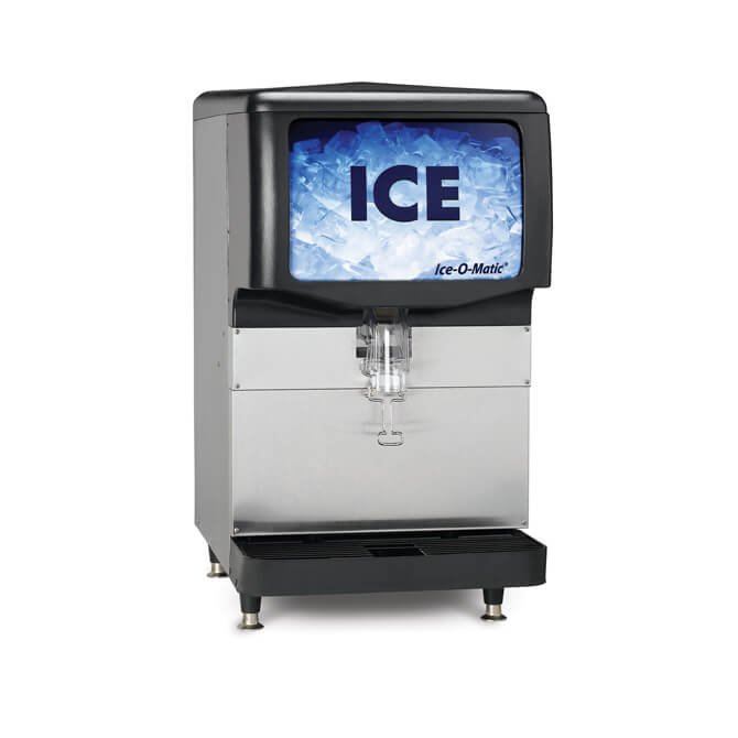 Ice O Matic Countertop Ice Dispenser With 250 Lb Bin 30 W