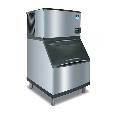 "Manitowoc 310 lb. Half Dice Indigo Ice Machine with 290 lb. Bin 30""W"