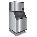 Manitowoc 635 lb. Half Dice Indigo Ice Machine with 290 lb. Bin 30\x22W