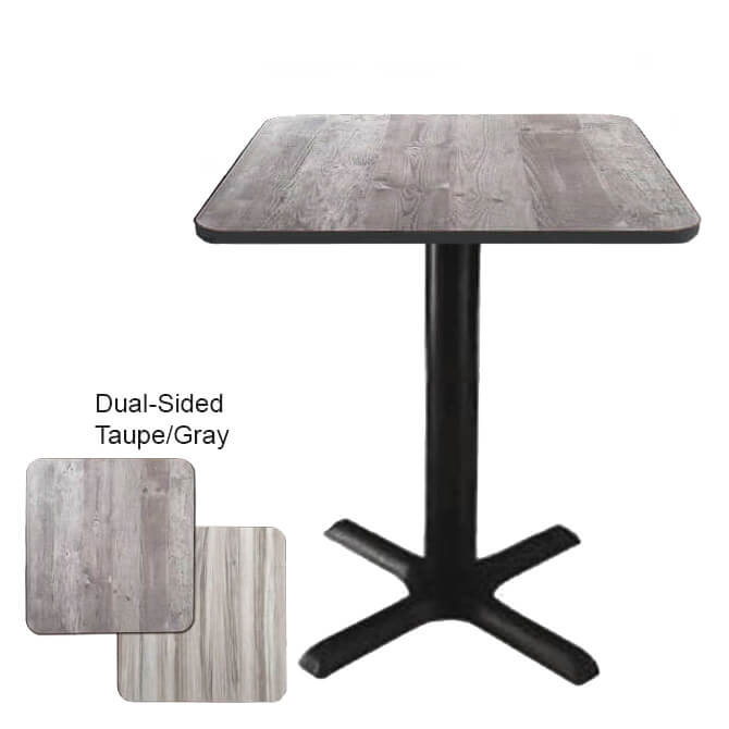 Modesto Dual-Sided�Taupe/Gray Bar-Height Table Kits 29-1/4