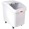 "Rubbermaid 31-Gallon Ingredient Bin with Clear Hinged Lid 18""W"