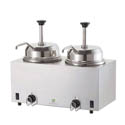 Server Dual 3-Quart Stainless Steel Hot Fudge Warmer with Pumps