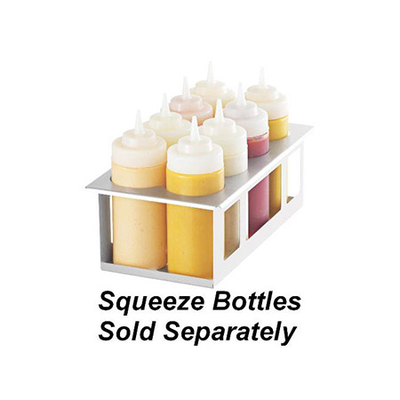 8 Squeeze Bottle Holder for Prep Tables