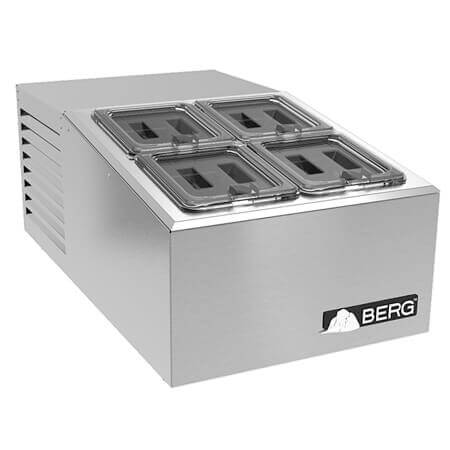 Berg 4 Covered Pan Countertop Refrigerated Prep Station
