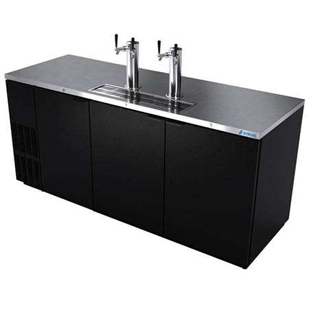 "Edesa 4-Keg Direct Draw Black Beer Tap 80""W"