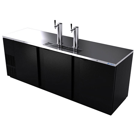 "Edesa 5-Keg Direct Draw Black Beer Tap 95""W"