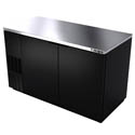 "Berg 25.2 cu. ft. Stainless Steel Top Back Bar Cooler 59-1/2""W"