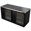 "Berg 29.6 cu. ft. Stainless Steel Top Back Bar Cooler with Glass Doors 69-1/2""W"