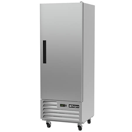 "Argus 17 cu. ft. 1-Door Bottom Mount Reach-In Freezer 27""W"