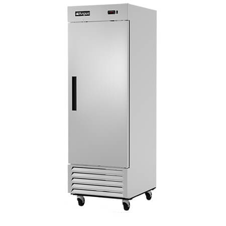 "Argus 23 cu. ft. 1-Door Bottom Mount Reach-In Freezer 27""W"