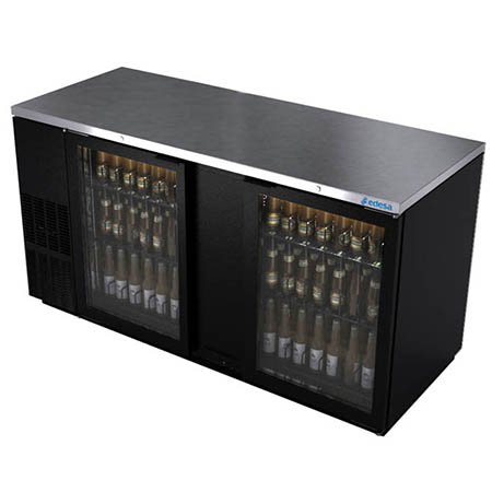"Edesa 29.6 cu. ft. Stainless Steel Top Back Bar Cooler with Glass Doors 69-1/2""W"