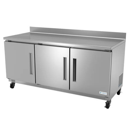 "Edesa 18.2 cu. ft. 3-Door Worktop Refrigerator 72""W"
