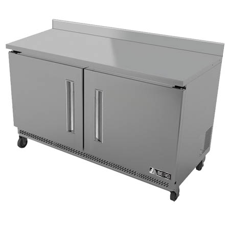 "Berg 11.8 cu. ft. 2-Door Worktop Freezer 48""W"