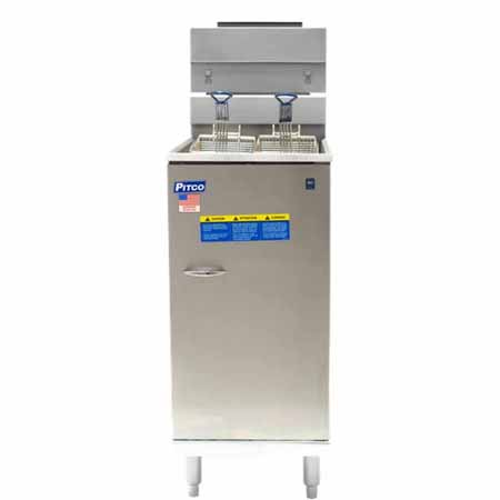 "Pitco 35-40 lb. Gas Fryer with Stainless Steel Pot 15-1/8""W"
