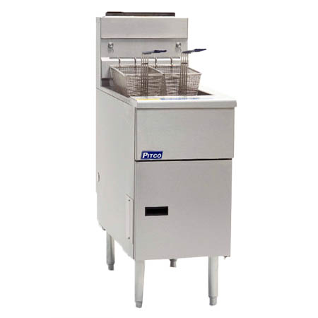 Pitco Solstice 40-50 lb. Gas Floor Fryer 110,000 BTU