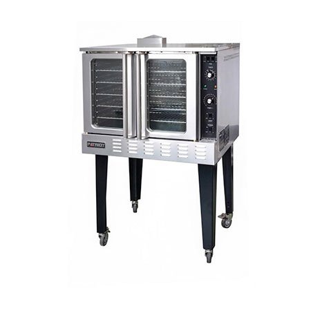 "Patriot Full Size Single Deck Natural Gas Convection Oven with Casters 38-1/4""W"