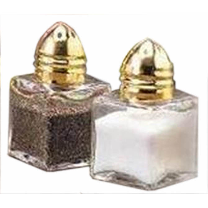 Tablecraft 0 5 Oz Glass Salt And Pepper Shaker With Gold